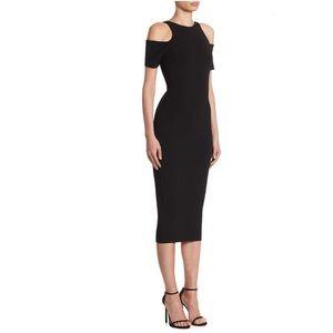 Victoria Beckham Cold Shoulder Midi Dress